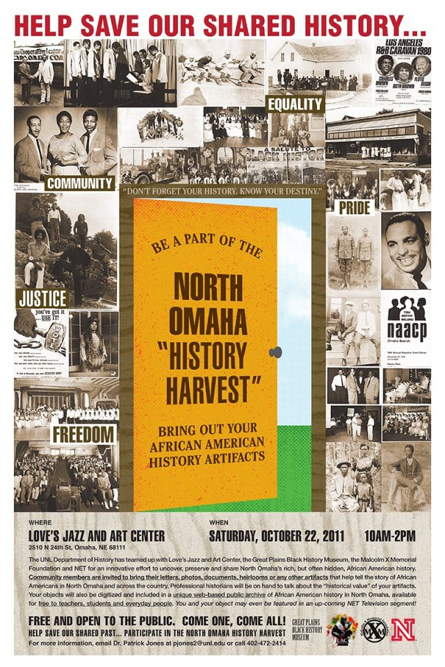 North Omaha History Harvest flyer